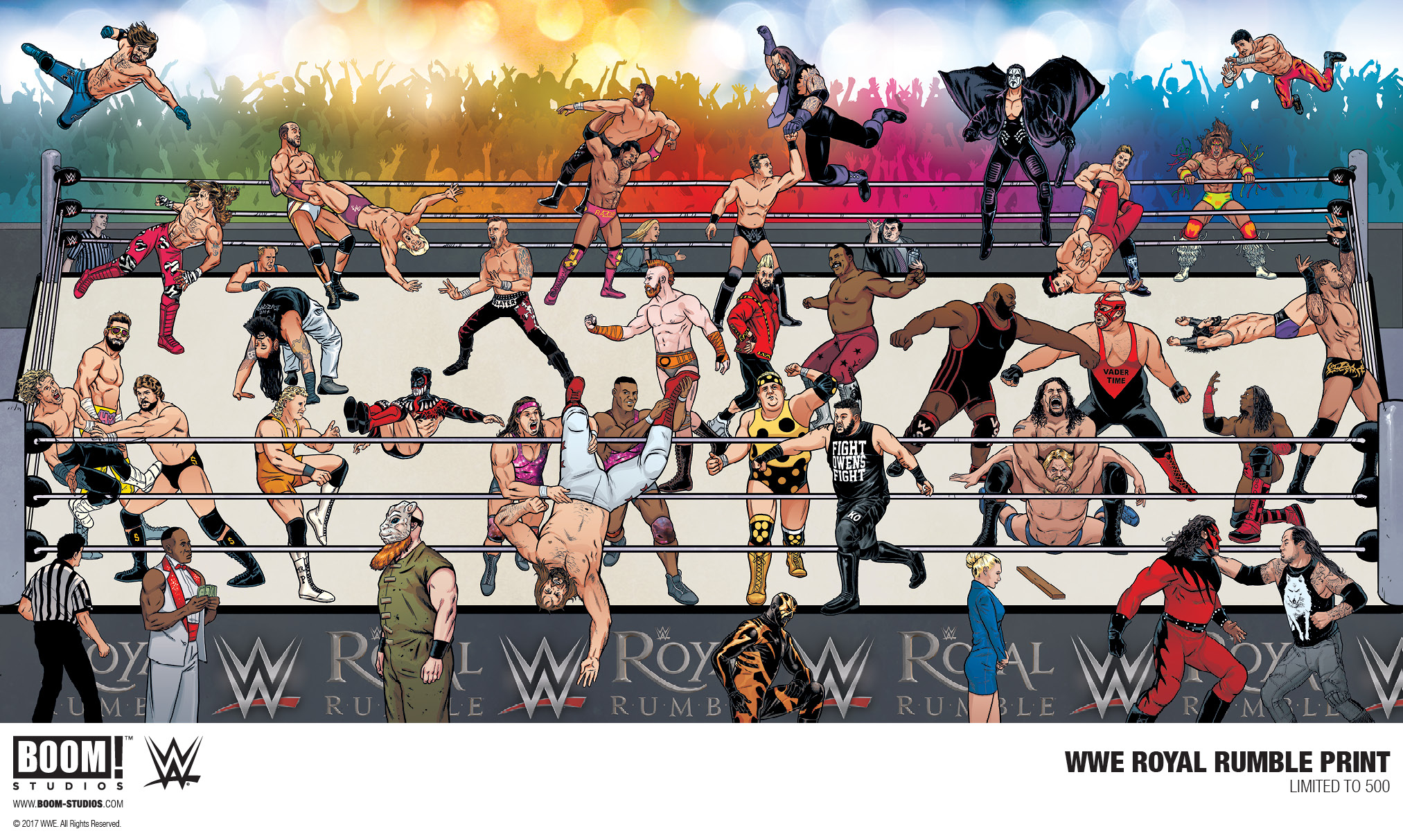 LCSD 2017 WWE ROYAL RUMBLE PRINT