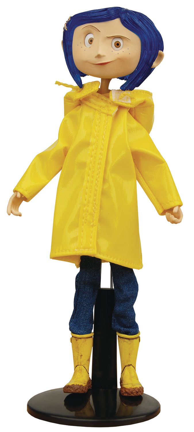 Aug178142 Coraline Raincoat Bendy Fashion Doll Previews World