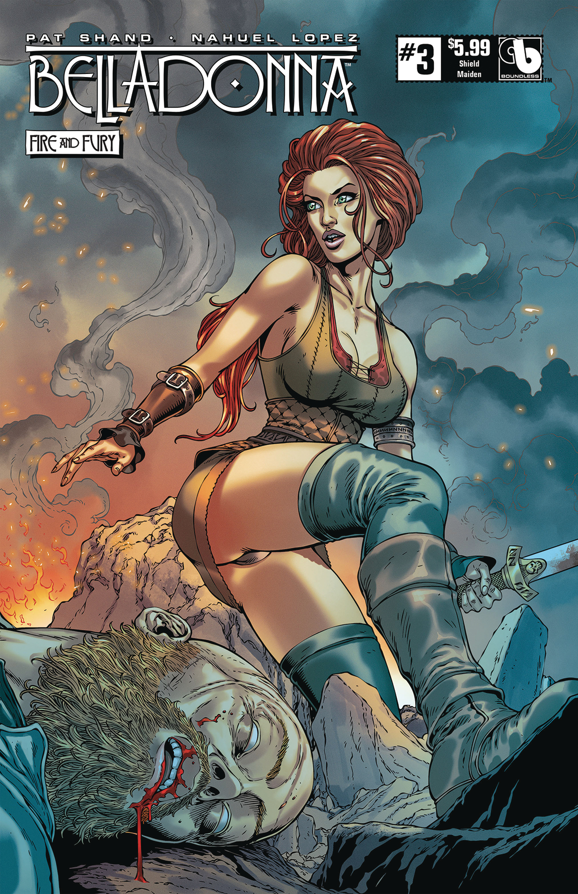 BELLADONNA FIRE FURY #3 SHIELD MAIDEN (MR)