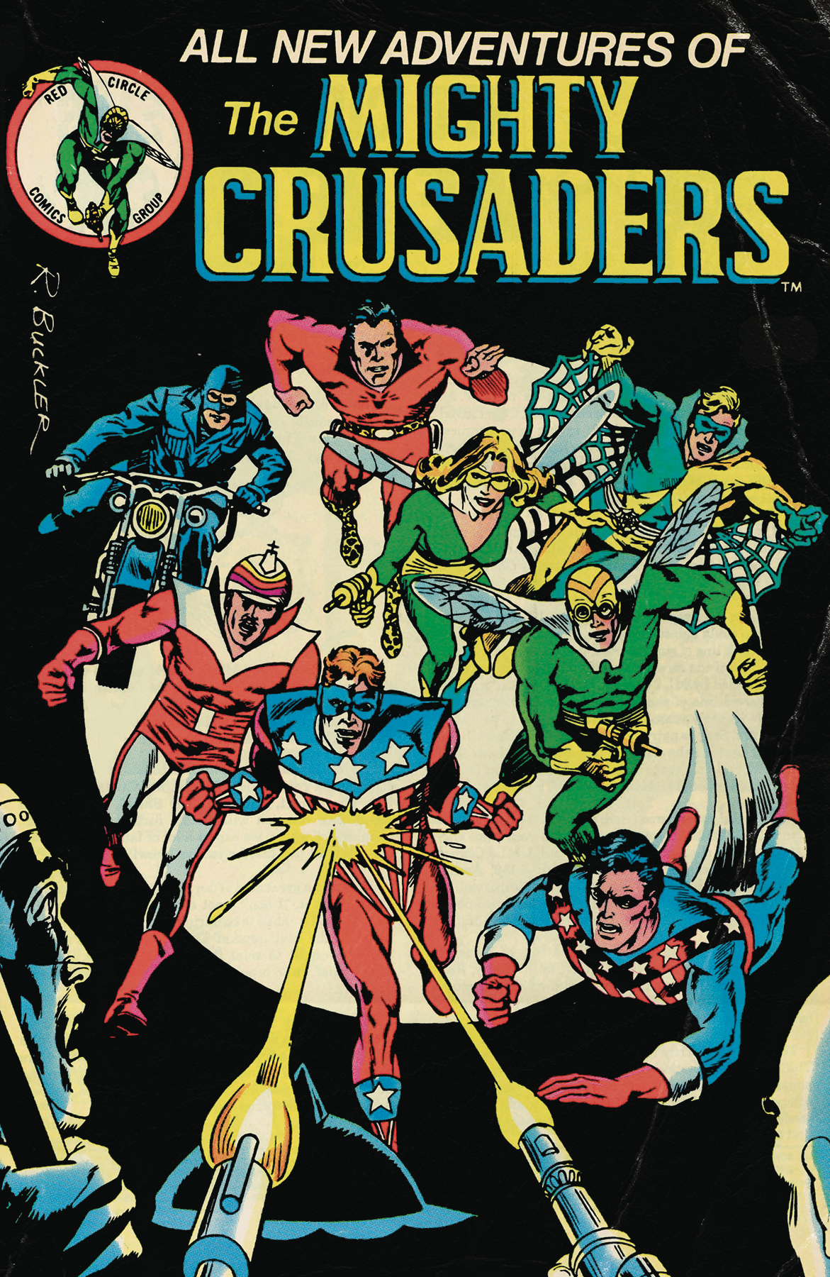 MIGHTY CRUSADERS #4 CVR B RED CIRCLE