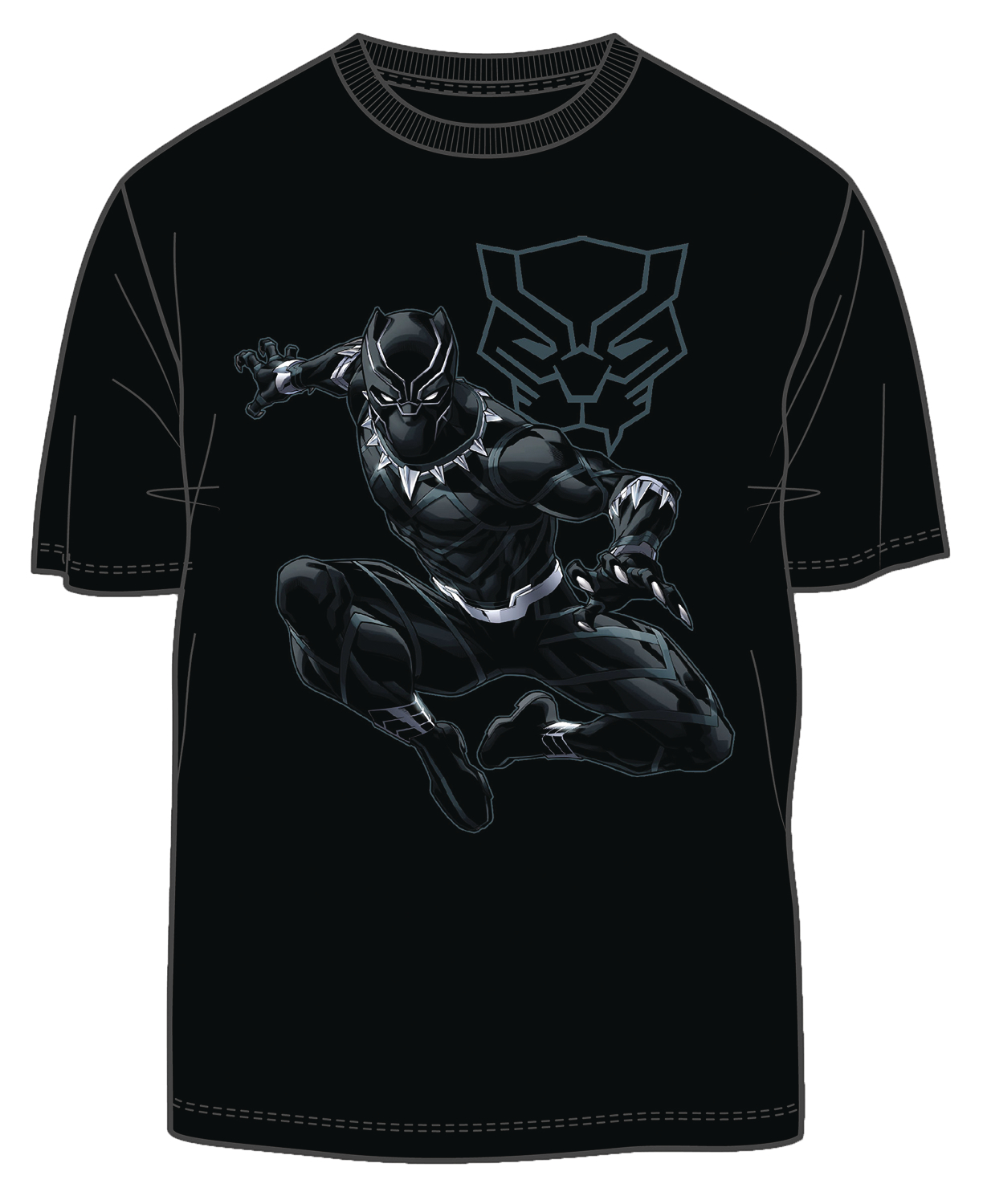 BLACK PANTHER JUNGLE LORD PX BLACK T/S XL