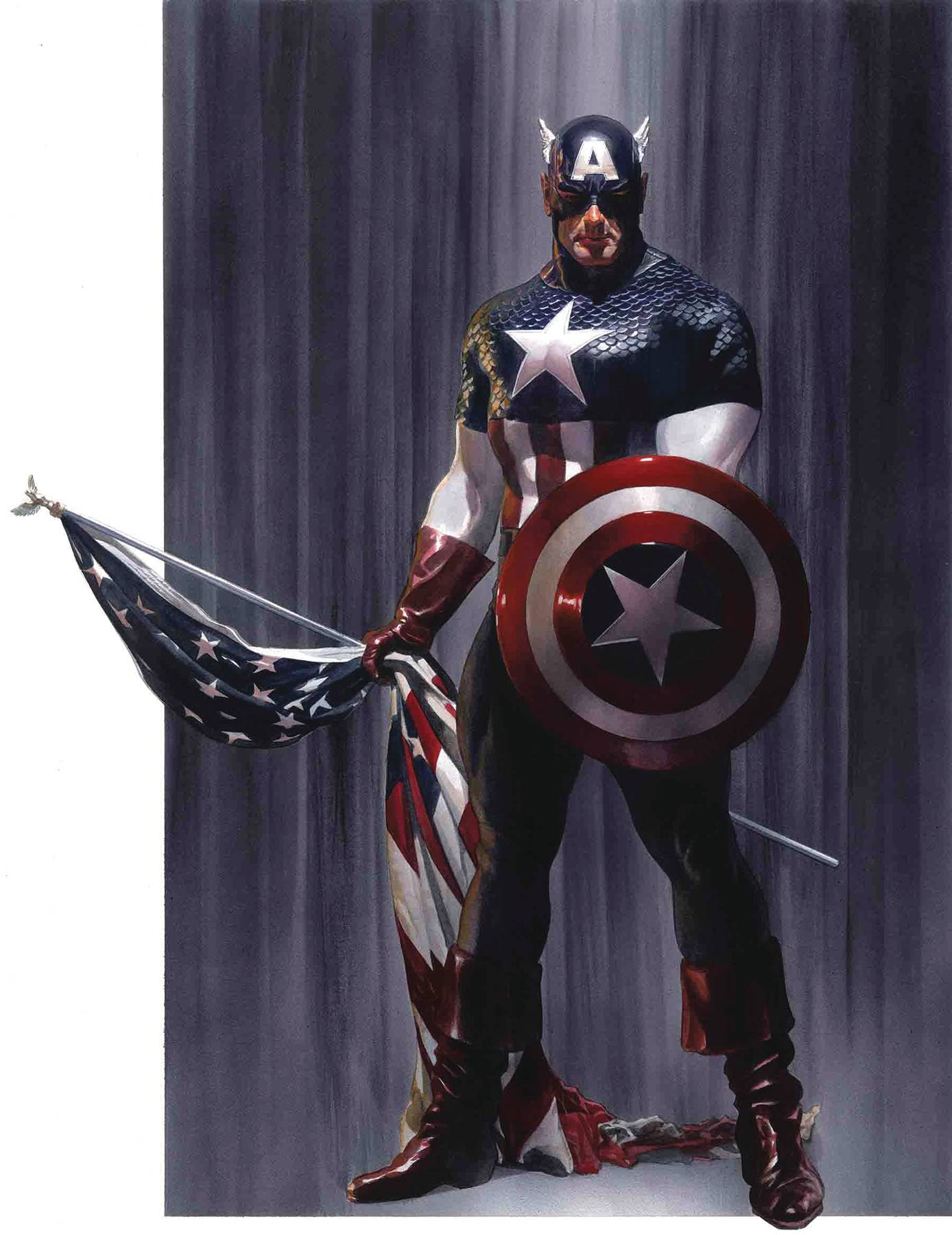 CAPTAIN AMERICA #2 BY ALEX ROSS POSTER