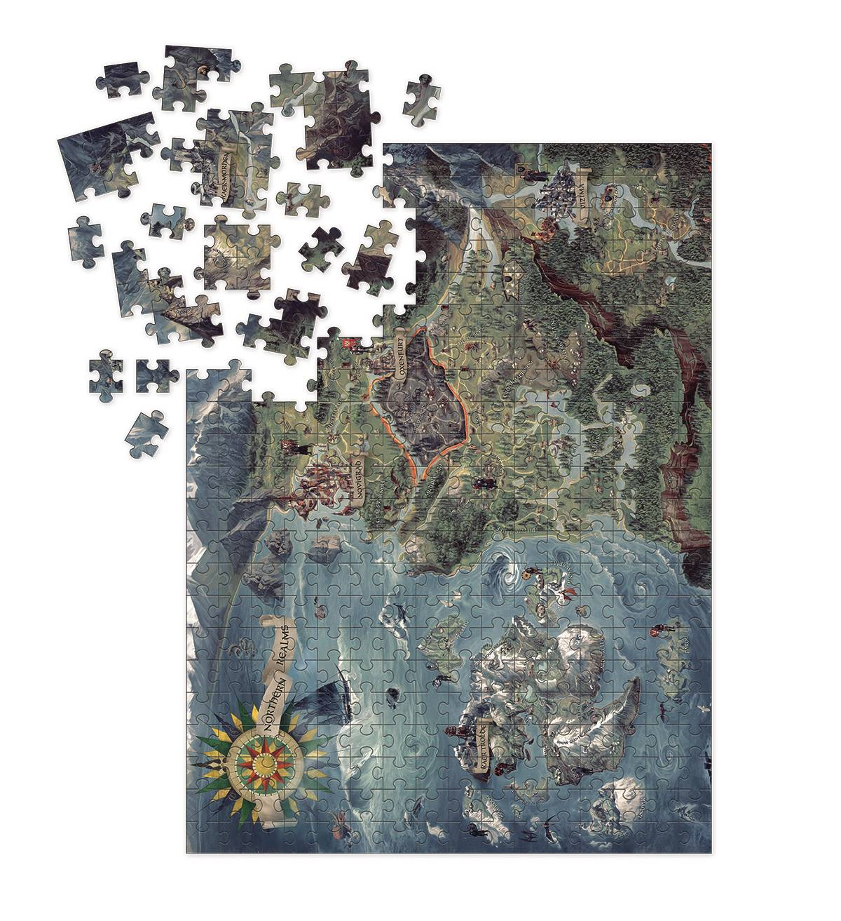 WITCHER 3 WILD HUNT WITCHER WORLD MAP PUZZLE