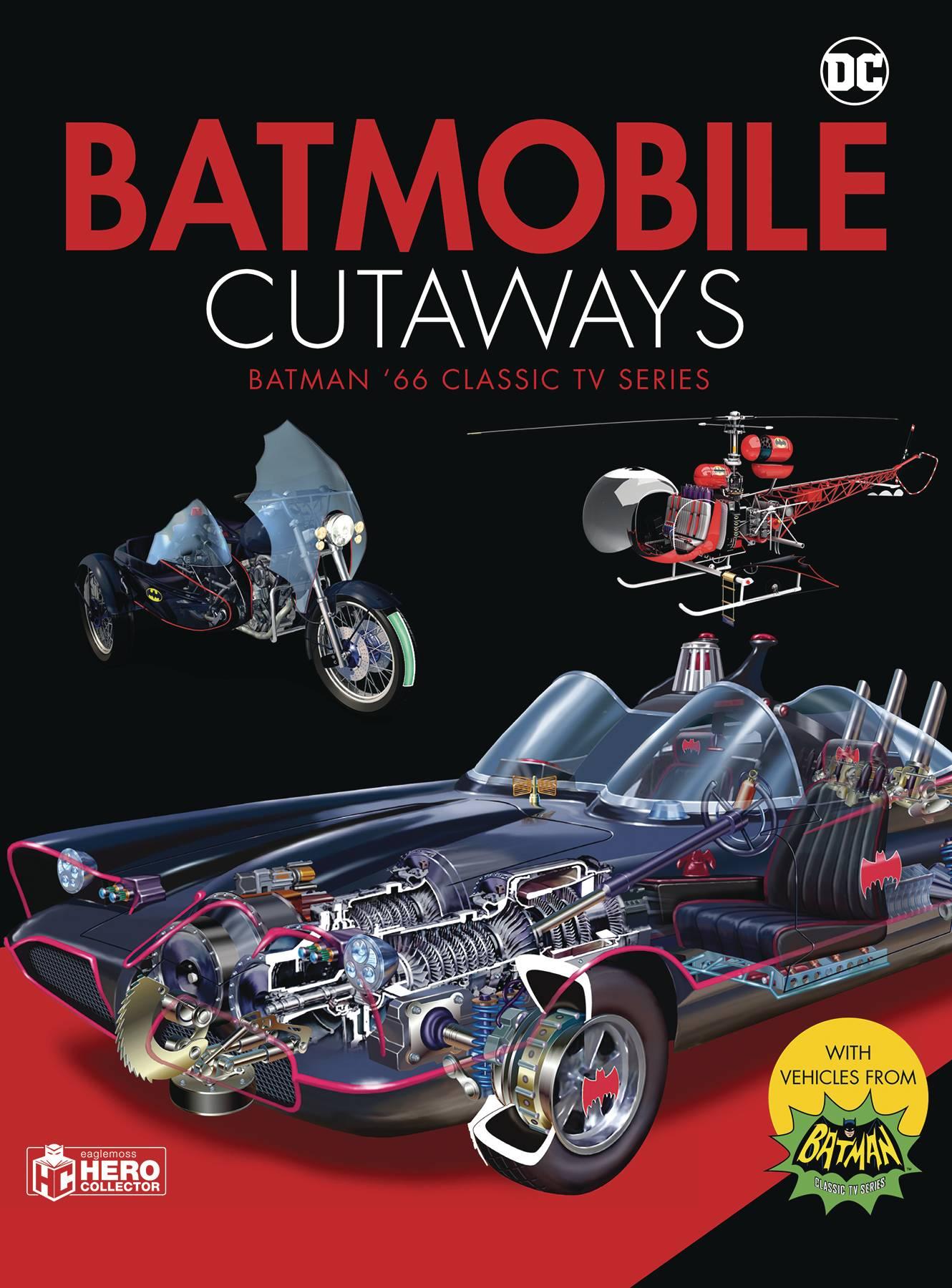 BATMOBILE CUTAWAYS CLASSIC BATMAN 66 TV SERIES w/ COLLECTIBLE