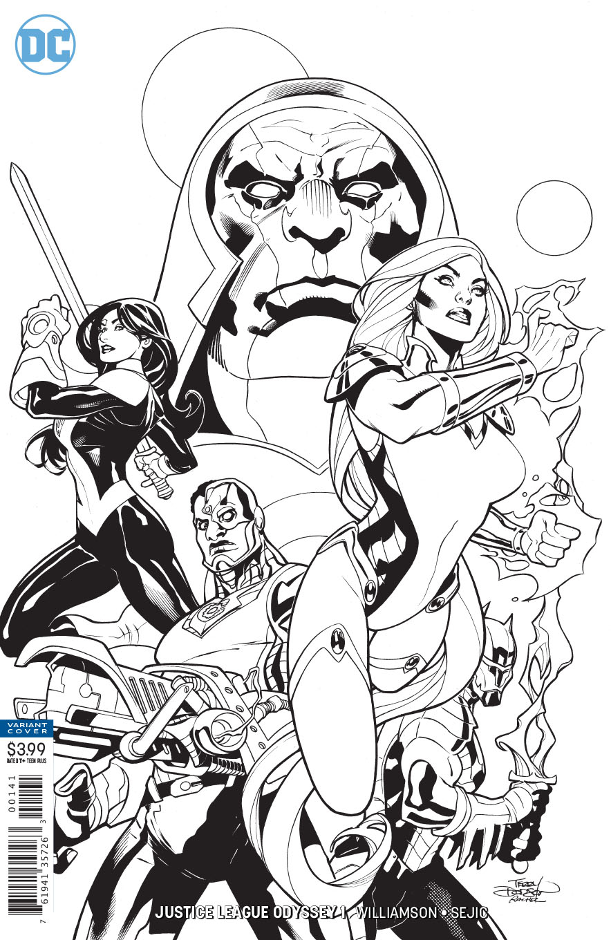 JUSTICE LEAGUE ODYSSEY #1 BLACK AND WHITE VAR ED