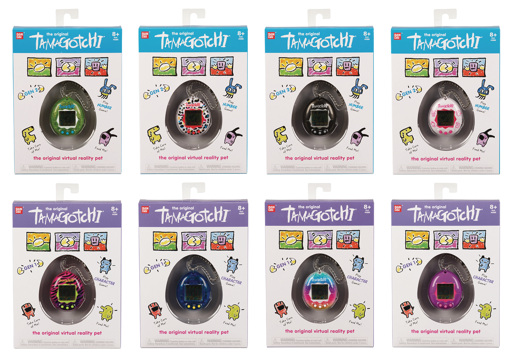 ORIGINAL TAMAGOTCHI 8PC DISPLAY 2018 WAVE A