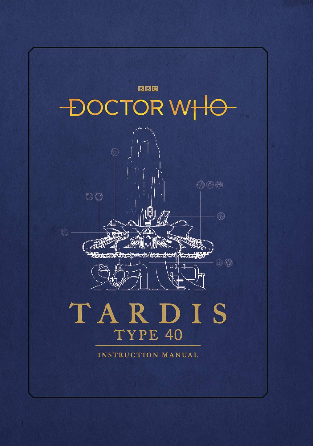DOCTOR WHO TARDIS TYPE FORTY INSTRUCTION MANUAL HC