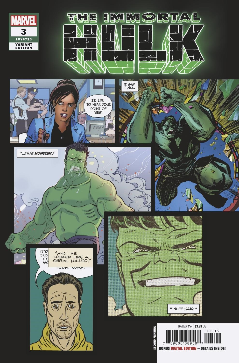 IMMORTAL HULK #3 BROWN 2ND PTG VAR