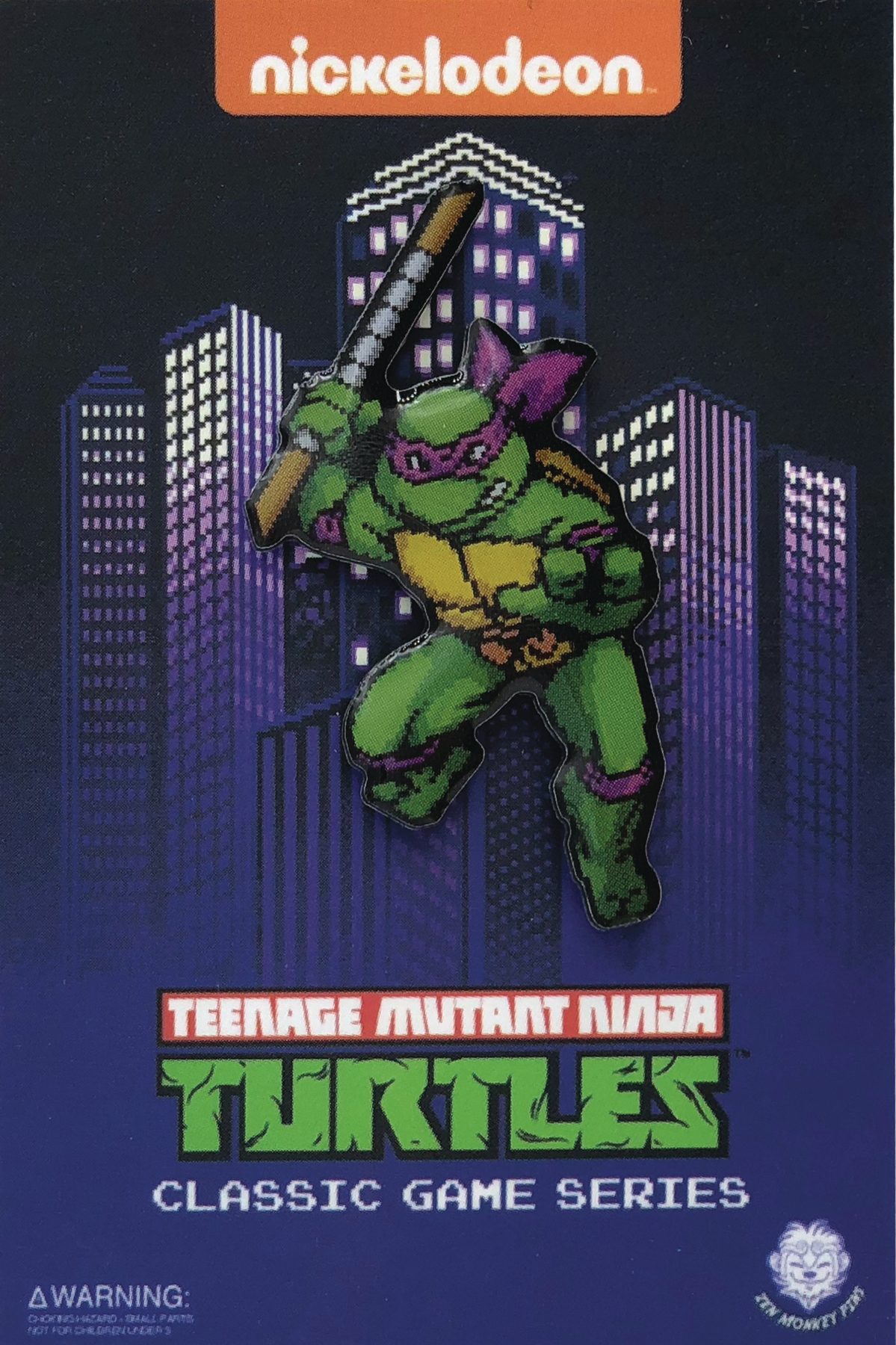 TMNT TURTLES IN TIME CHARACTER SELECT DONNIE PIN