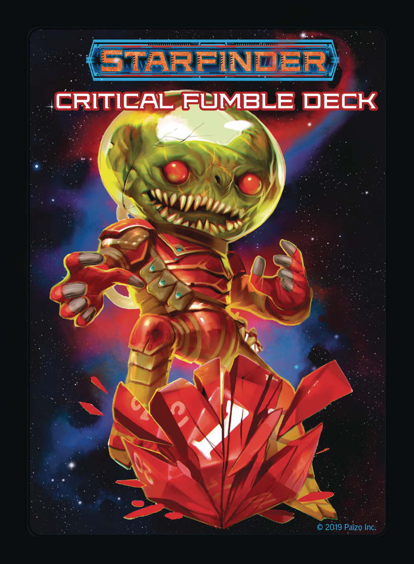 STARFINDER RPG CRITICAL FUMBLE DECK