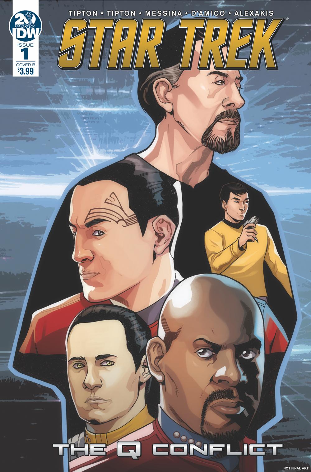Star Trek The Q Conflict 1B Messina B Variant NM 2019 Stock Image