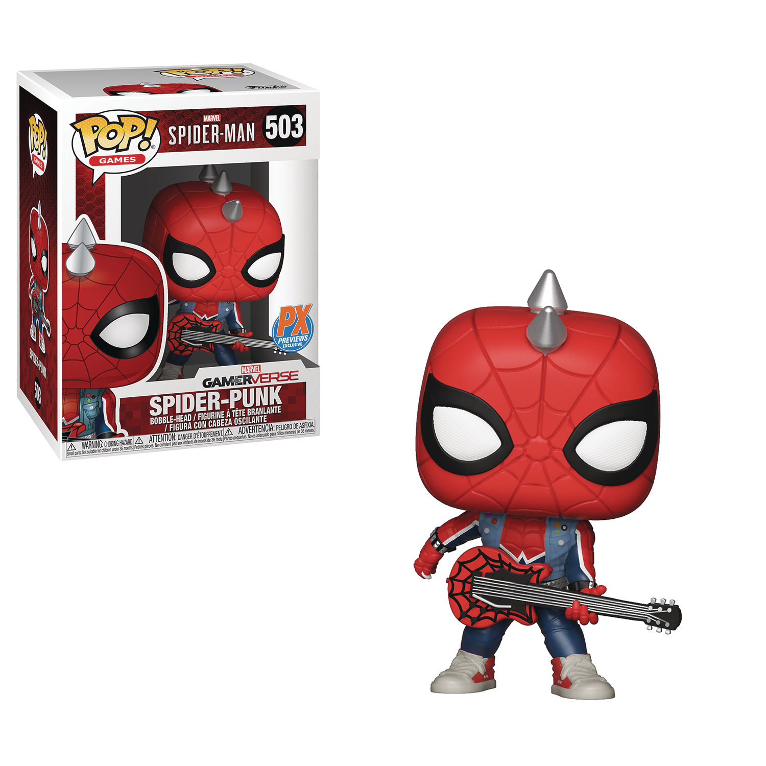 POP MARVEL SPIDER-PUNK PX VINYL FIGURE
