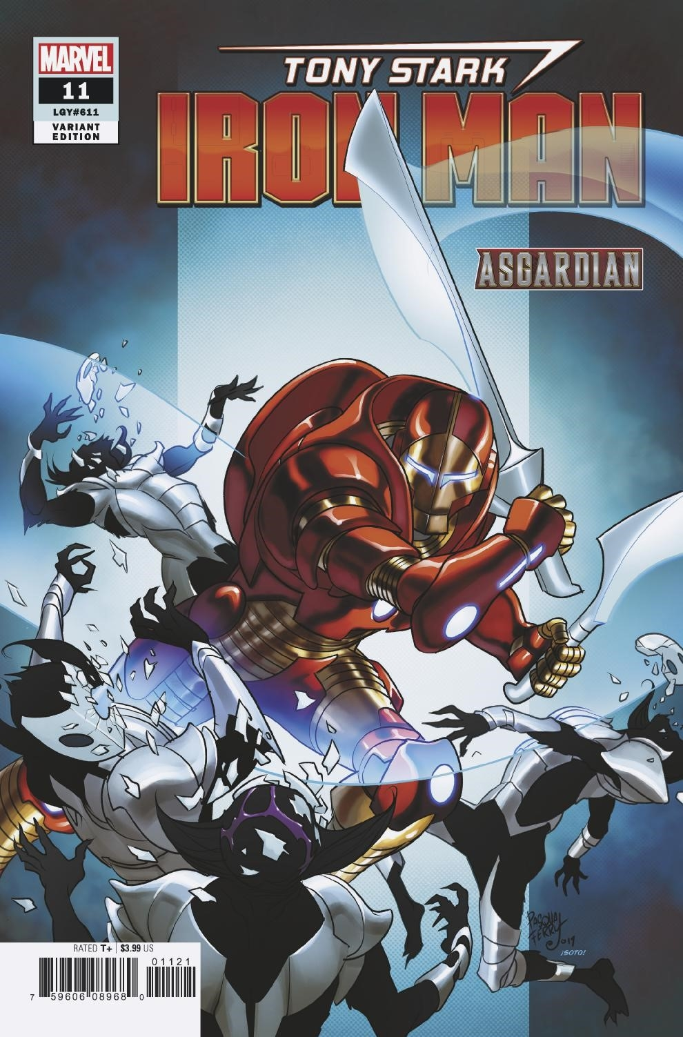 TONY STARK IRON MAN #11 FERRY ASGARDIAN VAR