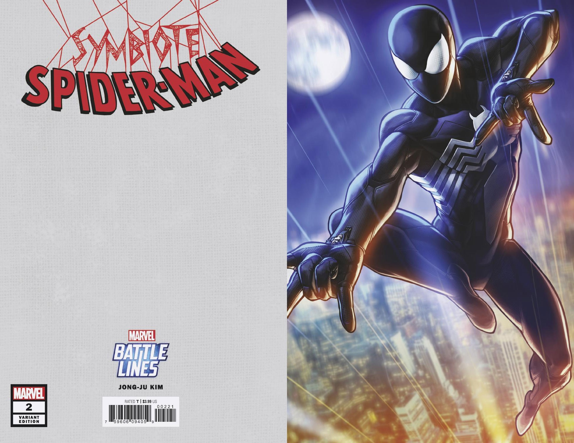 SYMBIOTE SPIDER-MAN #2 (OF 5) JONGJU KIM MARVEL BATTLE LINES