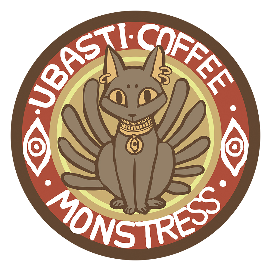 MONSTRESS UBASTI COFFEE PIN (O/A)