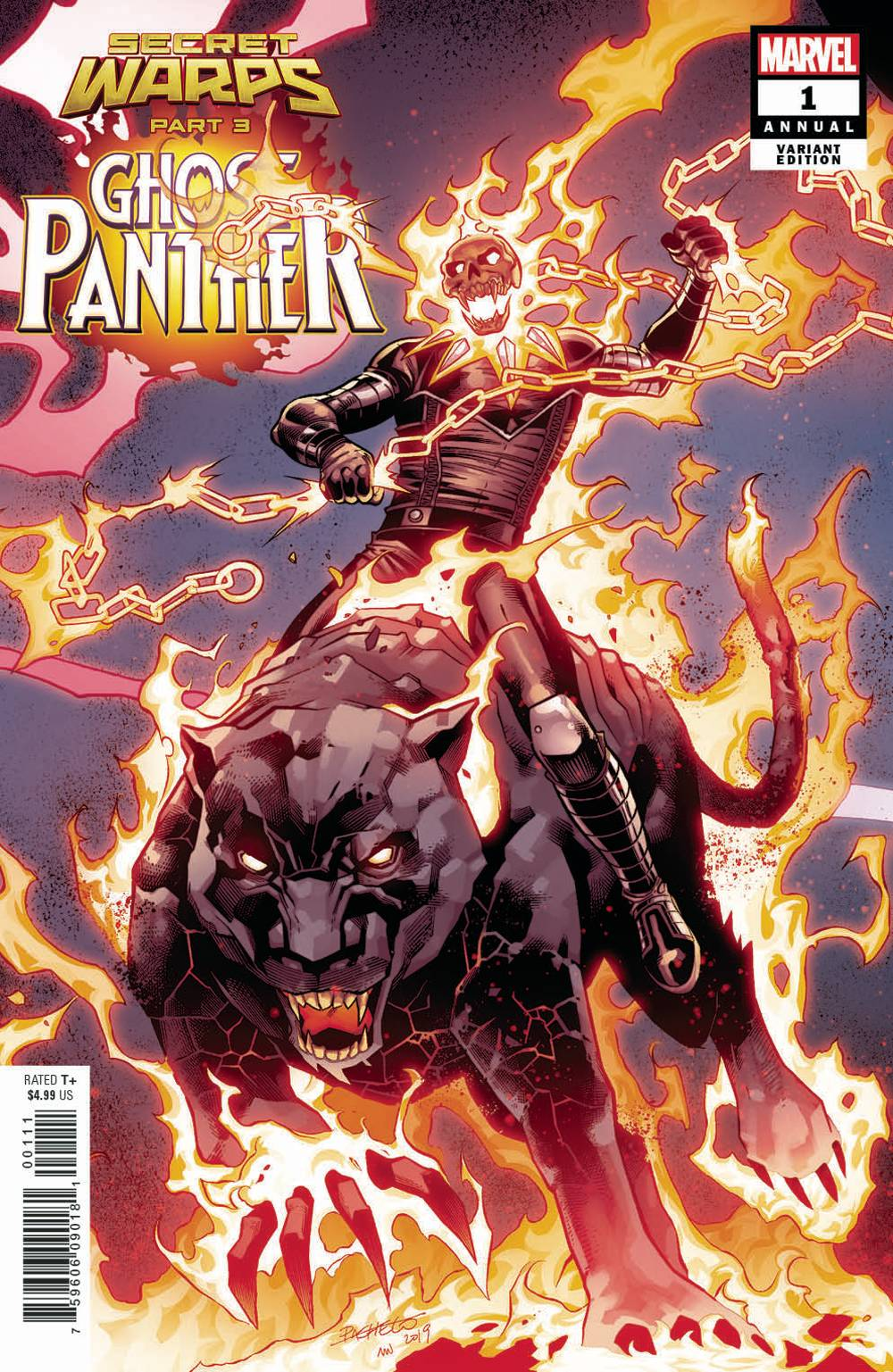 SECRET WARPS GHOST PANTHER ANNUAL #1 PACHECO CONNECTING VAR