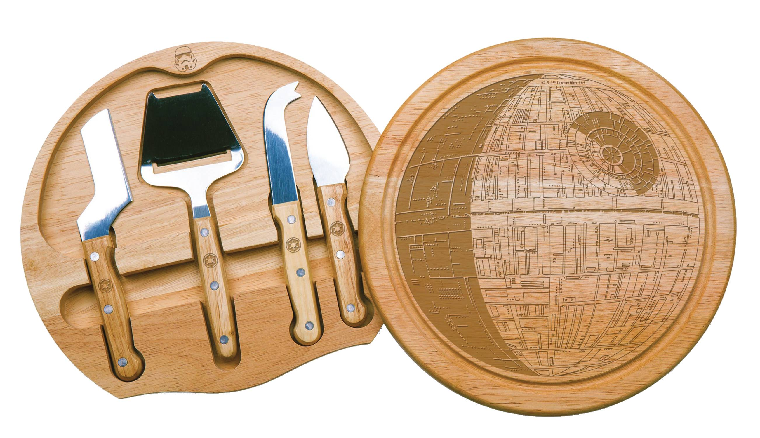 STAR WARS DEATH STAR CIRCO CHEESE BOARD AND TOOLS SET