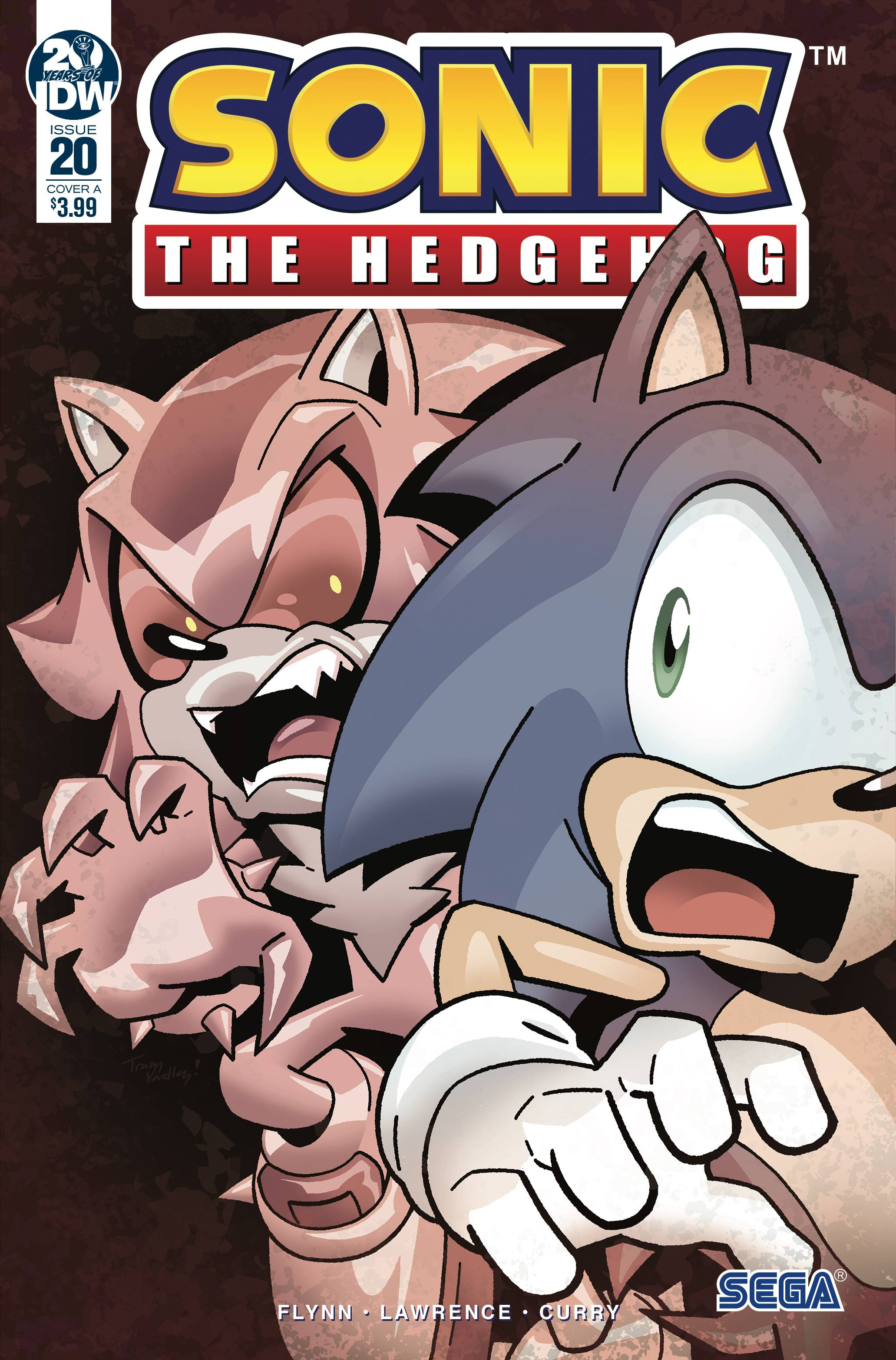 SONIC THE HEDGEHOG #20 CVR A YARDLEY
