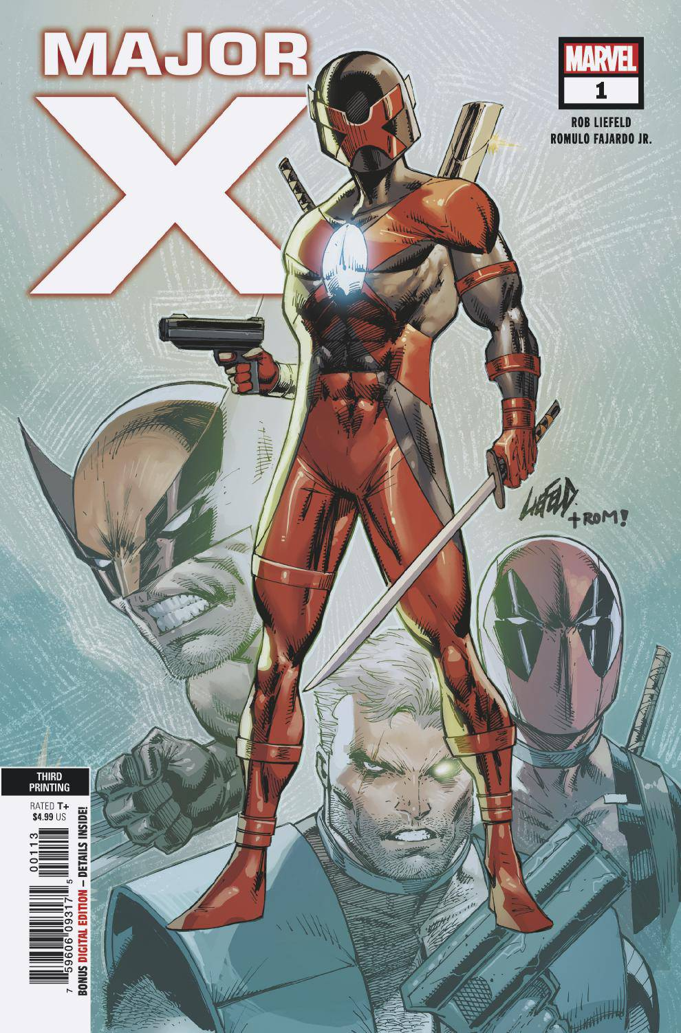 MAJOR X #1 (OF 6) 3RD PTG LIEFELD VAR
