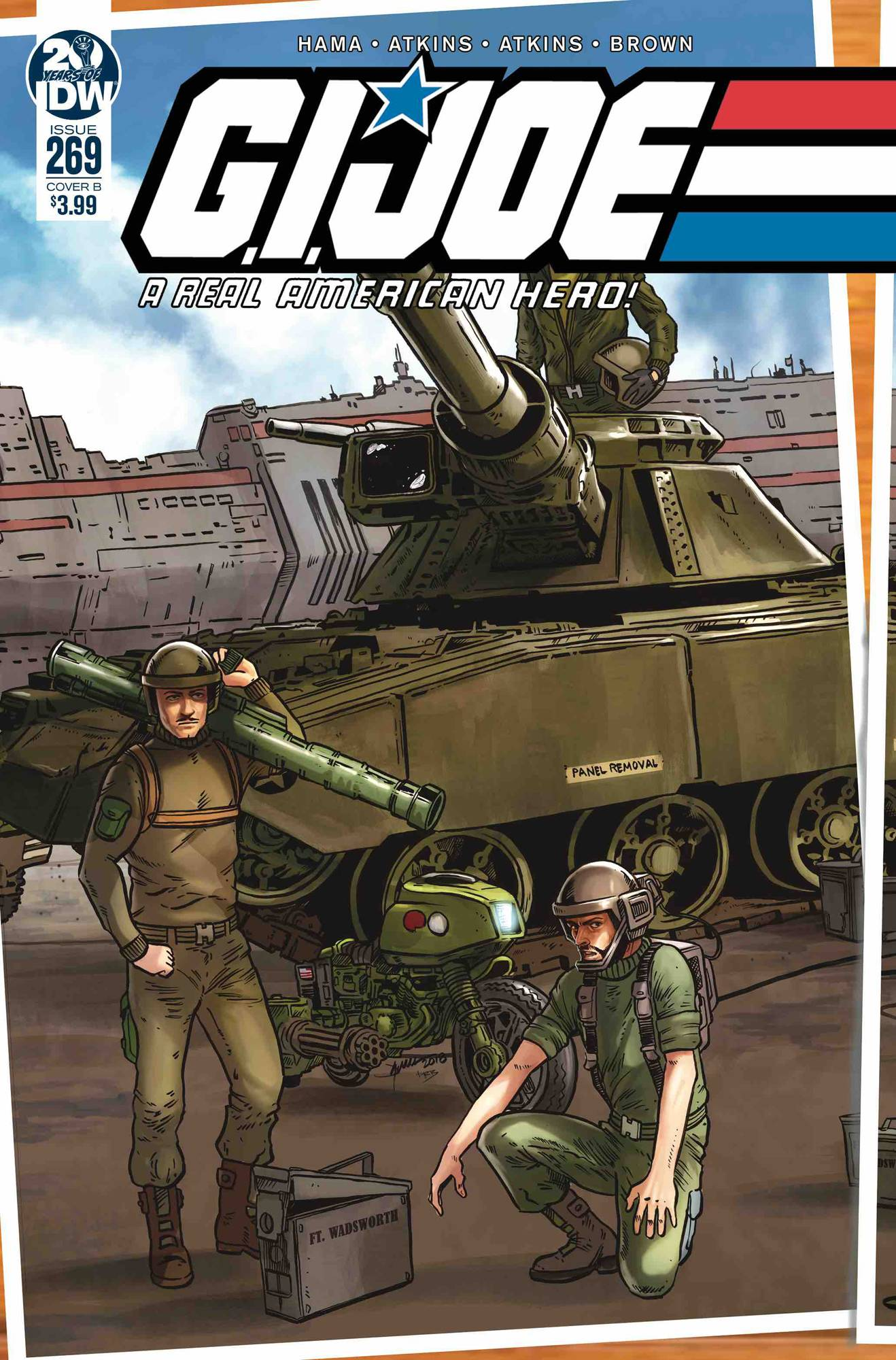 GI JOE A REAL AMERICAN HERO #269 CVR B SULLIVAN IDW PUBLISHING
