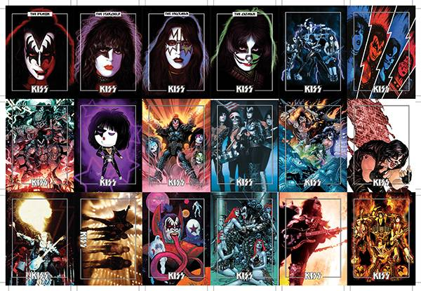 KISS DLX ULTRA PREMIUM TRADING CARDS UNCUT BASE CARD SHEET (