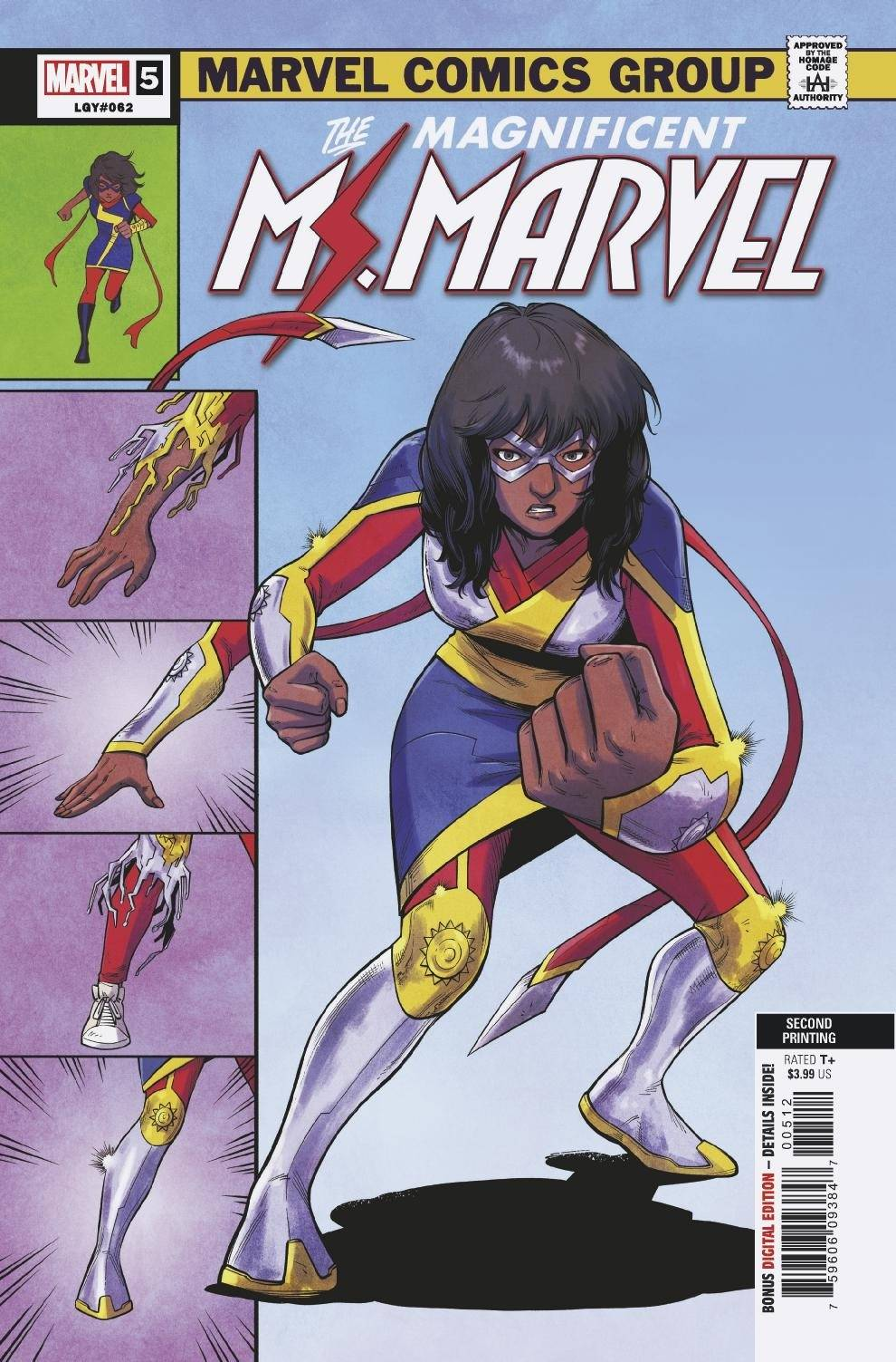 MAGNIFICENT MS MARVEL #5 2ND PTG JUNG VAR