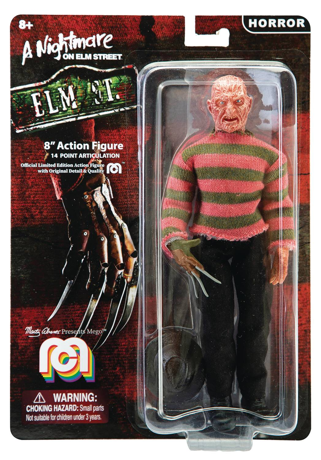 MEGO HORROR WAVE 5 FREDDY KRUEGER 8IN AF