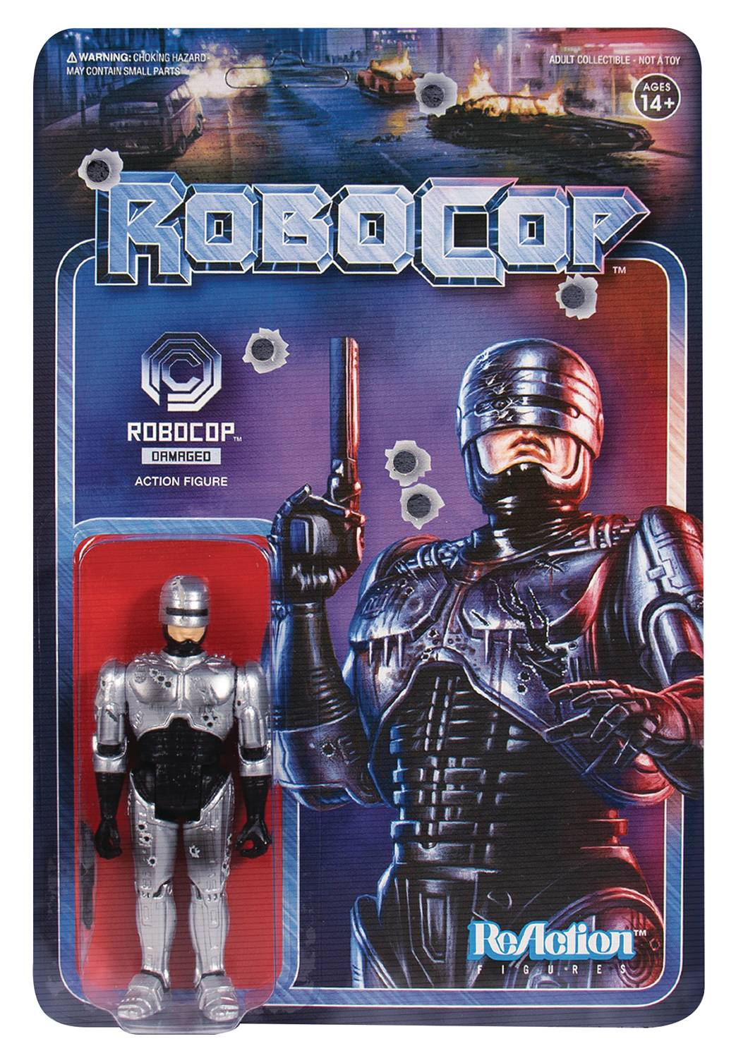 ROBOCOP BATTLE DAMAGED ROBOCOP REACTION FIGURE