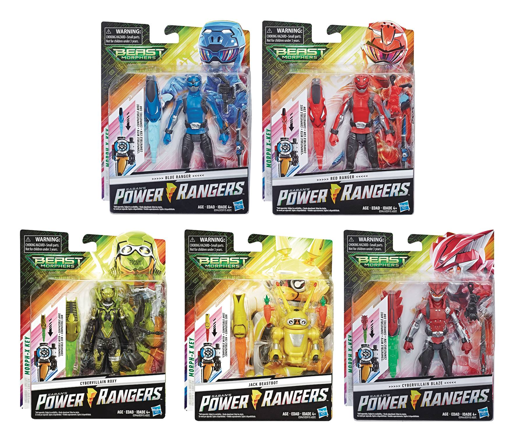 POWER RANGERS BEAST MORPHERS 6IN CORE AF ASST 201902  (