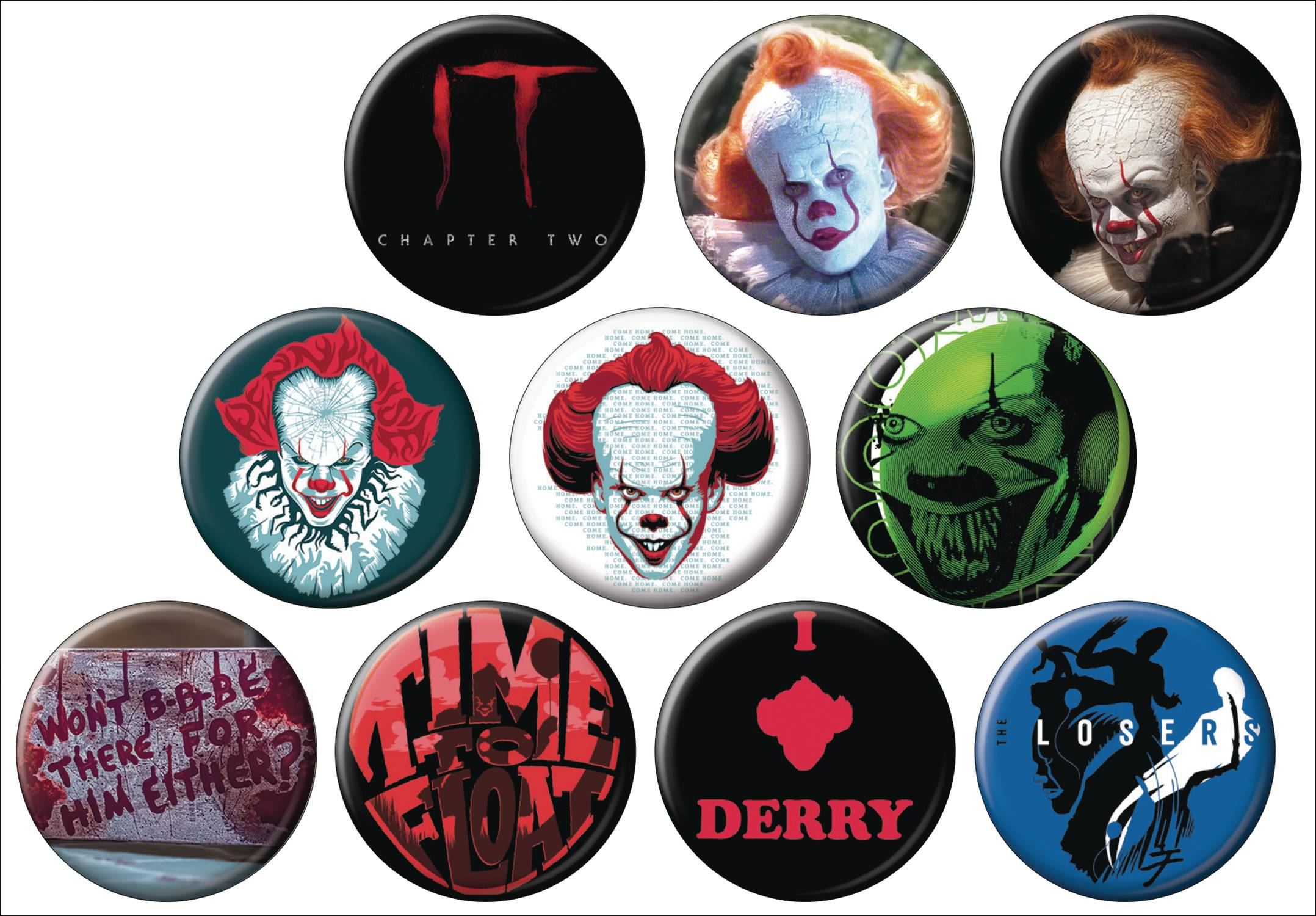 HORROR IT CHAPTER TWO 144PC BUTTON DIS