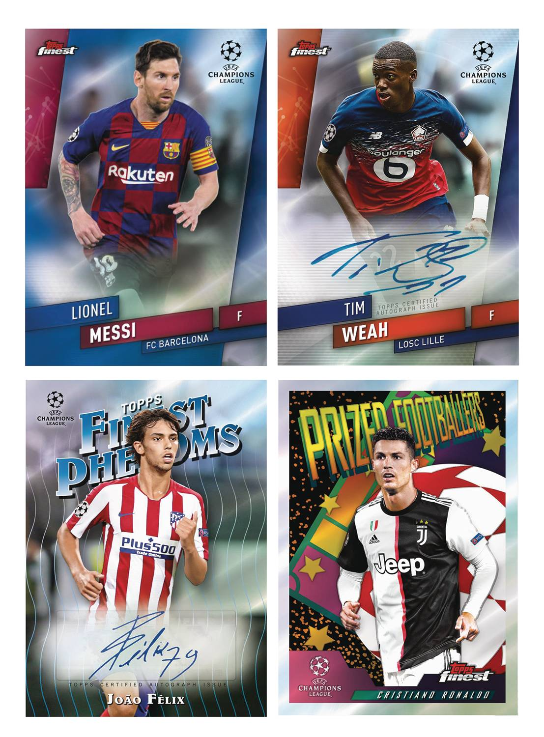 TOPPS 2020 FINEST UEFA CHAMPIONS LEAGUE SOCCER T/C BOX