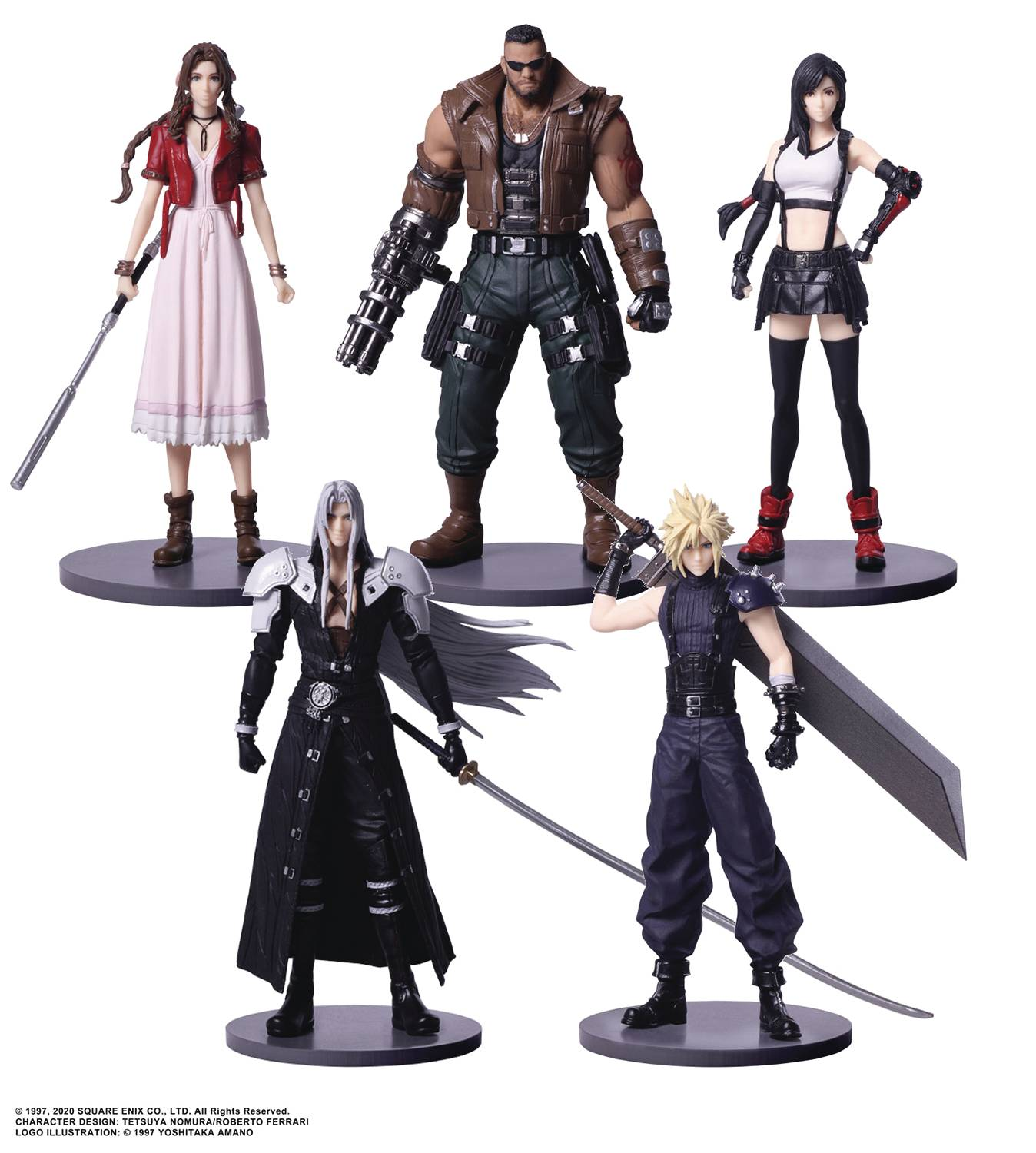 FINAL FANTASY VII REMAKE TRADING ARTS MINI FIG 5PC BMB DS