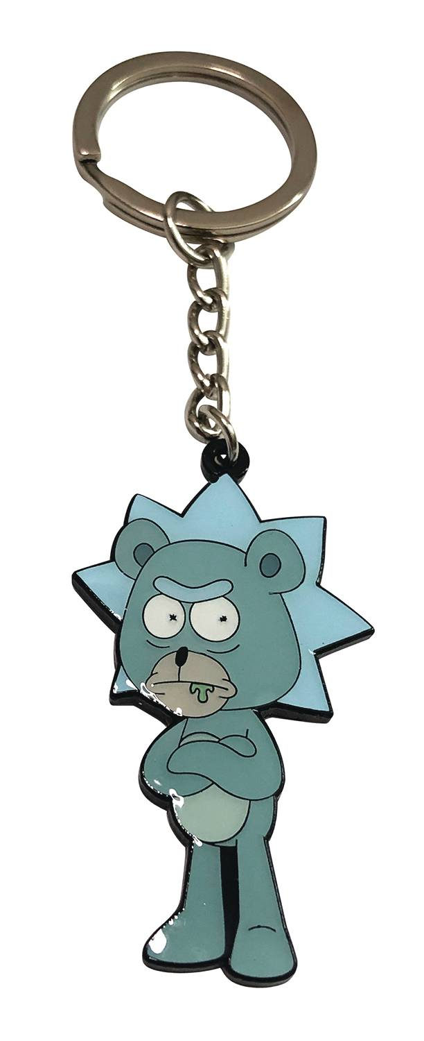 RICK AND MORTY TEDDY RICK KEYCHAIN