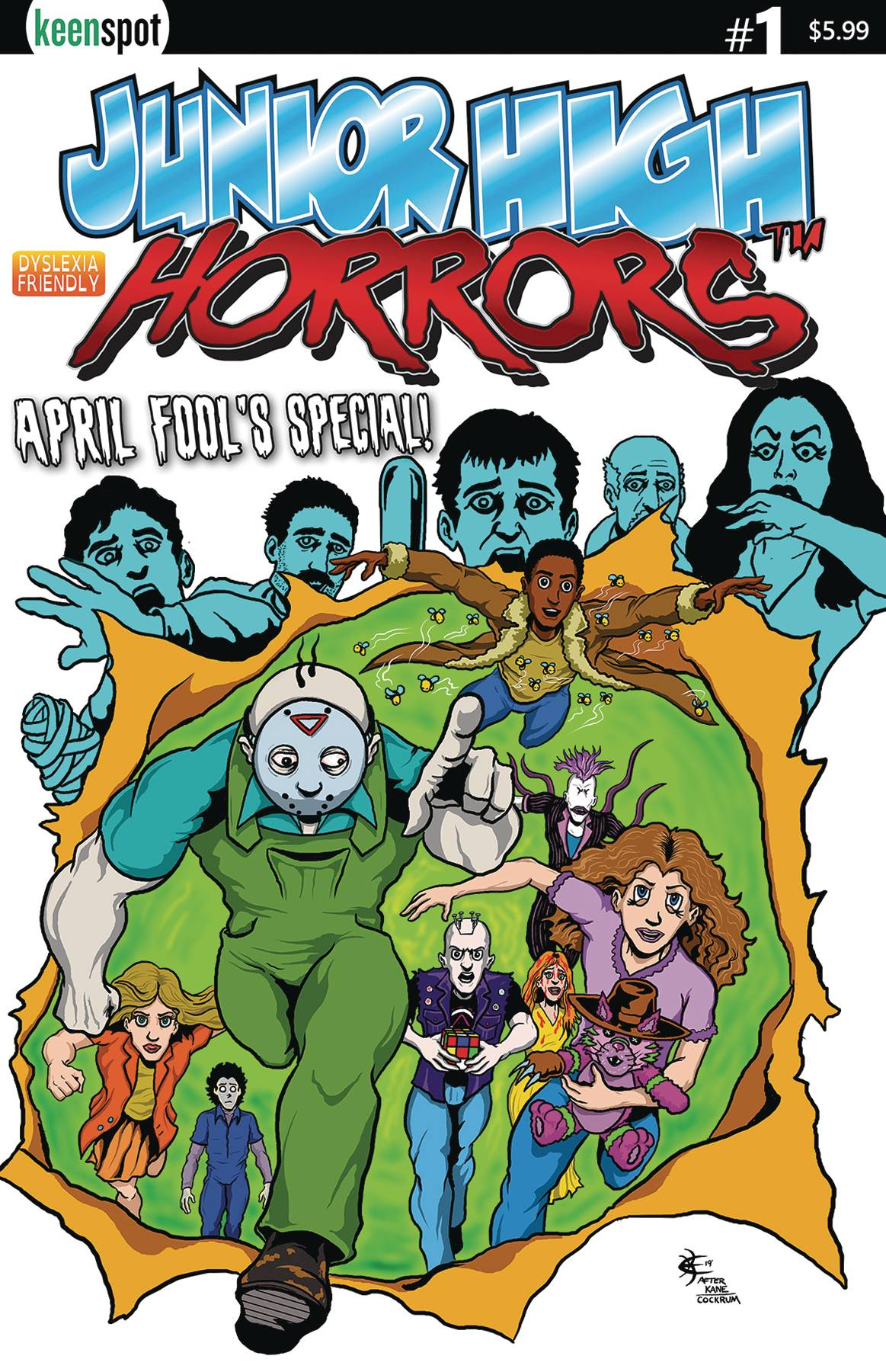 JUNIOR HIGH HORRORS APRIL FOOLS SPECIAL #1 CVR A GS X-MEN PA