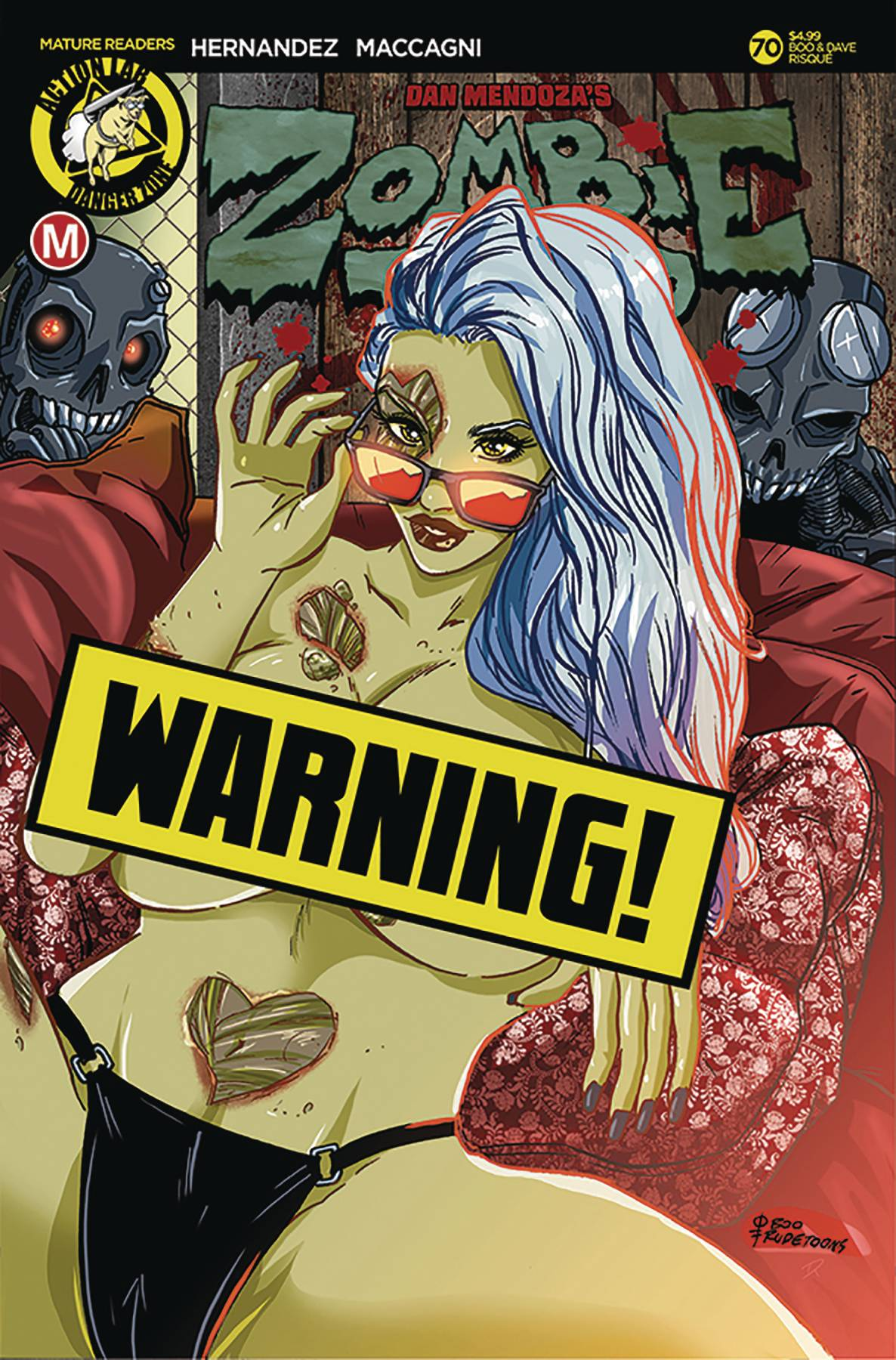 ZOMBIE TRAMP ONGOING #70 CVR D RUDETOONS REYNOLDS RISQUE (MR