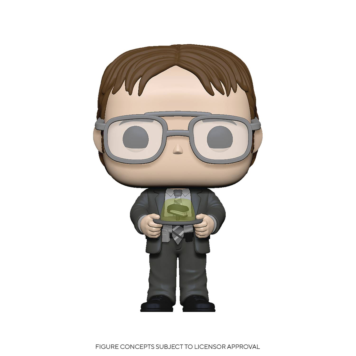 POP TV OFFICE S2 DWIGHT W/JELLO STAPLER VINYL FIG