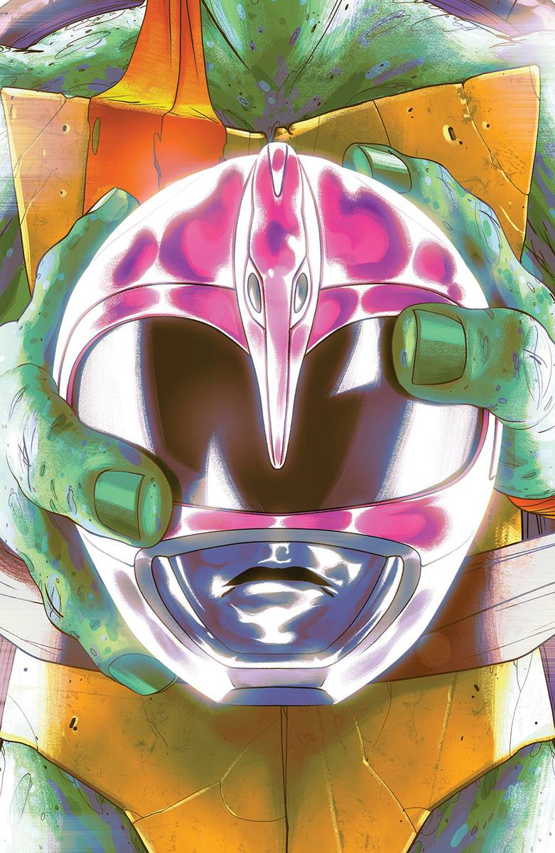 POWER RANGERS TEENAGE MUTANT NINJA TURTLES #4 MIKE MONTES (C