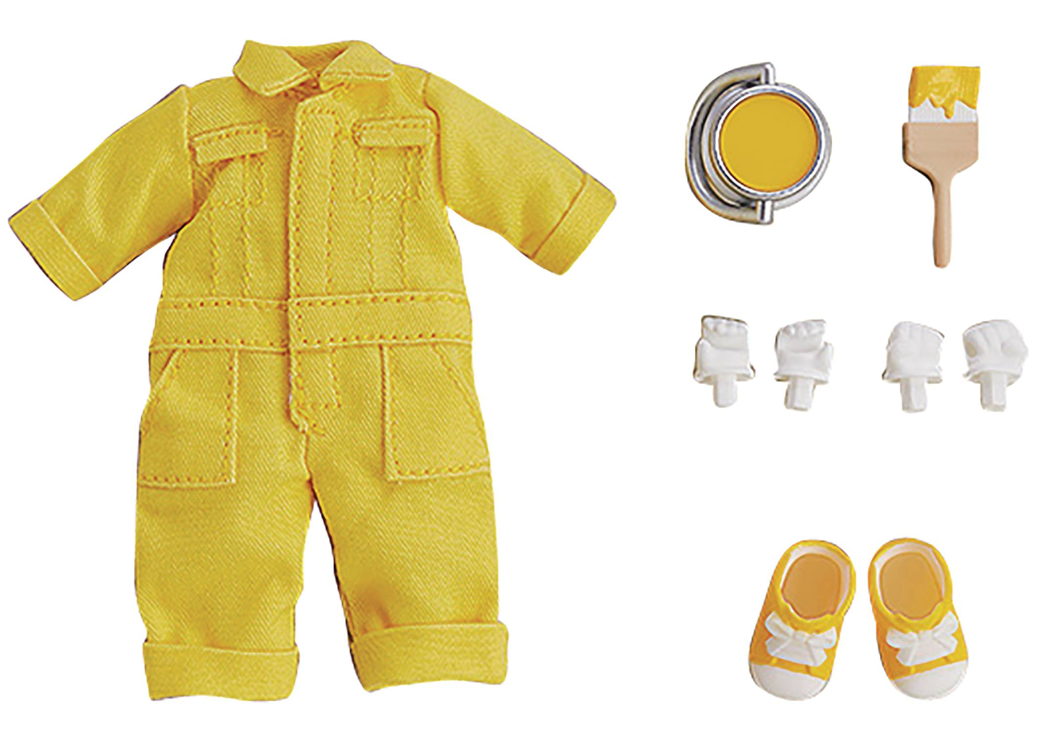 NENDOROID DOLL OUTFIT SET COLORFUL OVERALLS YELLOW VER