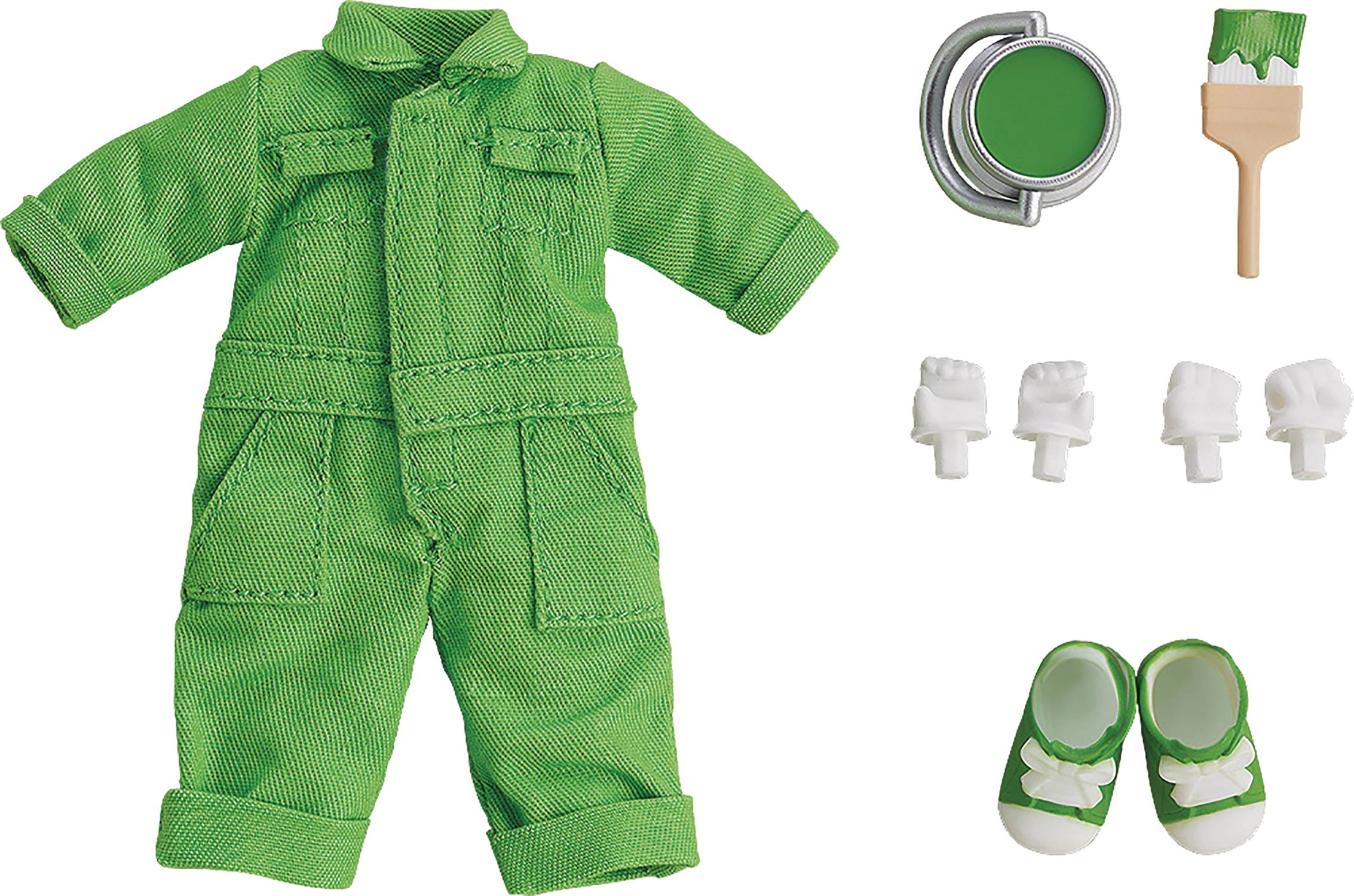 NENDOROID DOLL OUTFIT SET COLORFUL OVERALLS LIME GREEN VER (