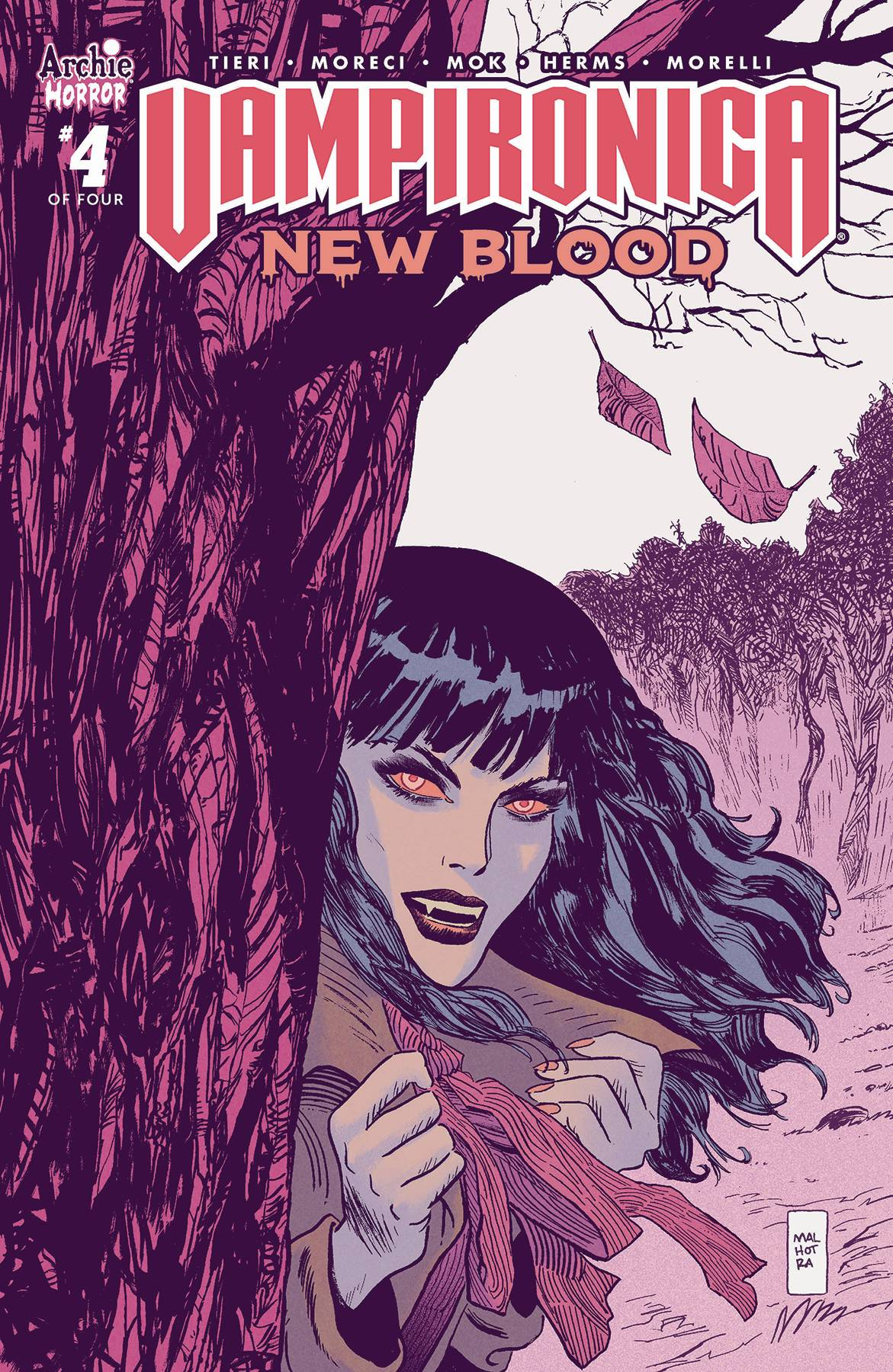 VAMPIRONICA NEW BLOOD #4 (OF 4) CVR B MALHOTRA