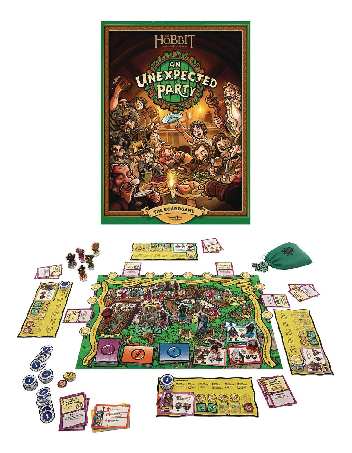 THE HOBBIT AN UNEXPECTED PARTY BOARDGAME