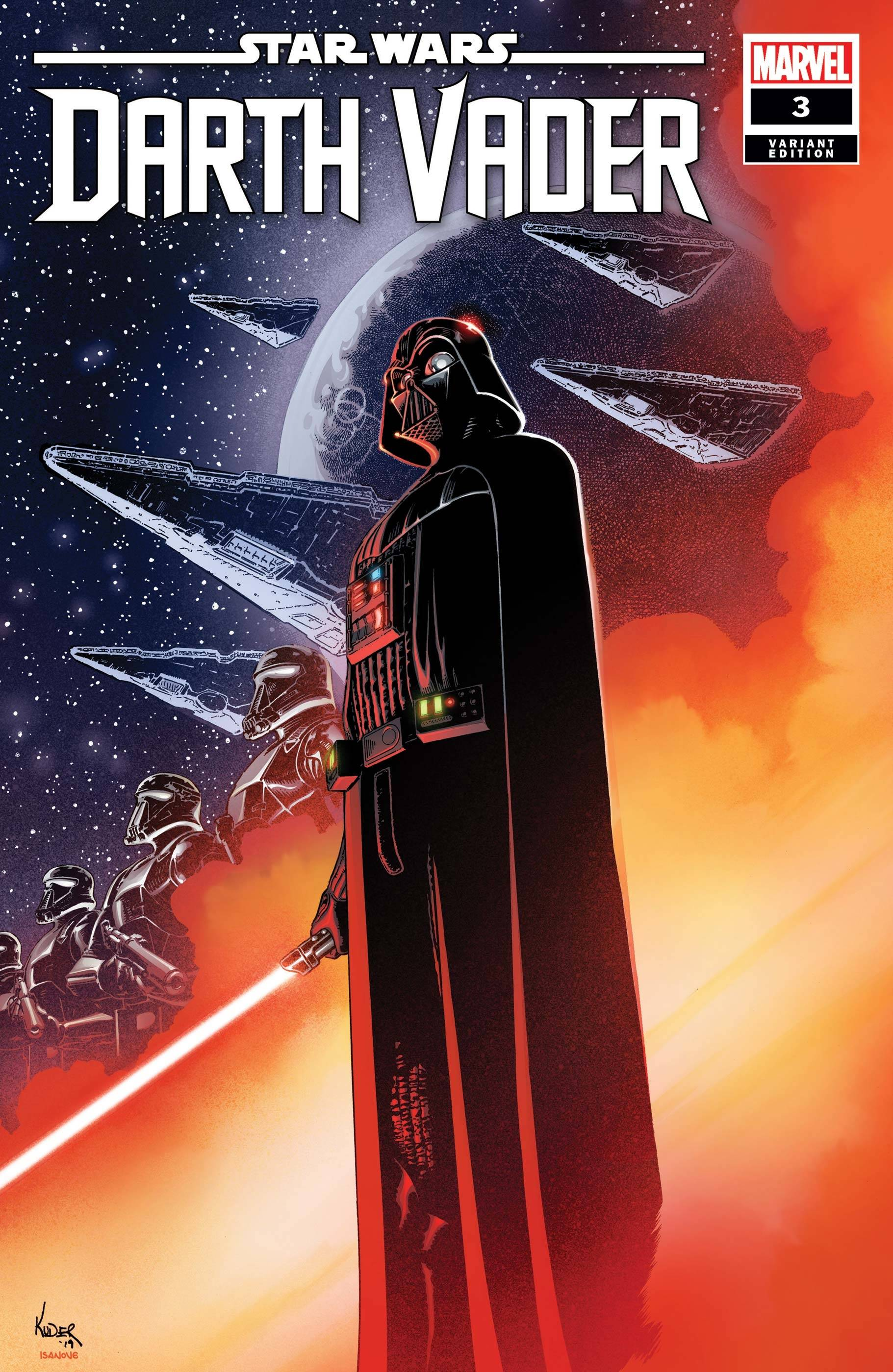 STAR WARS DARTH VADER #3 KUDER VAR