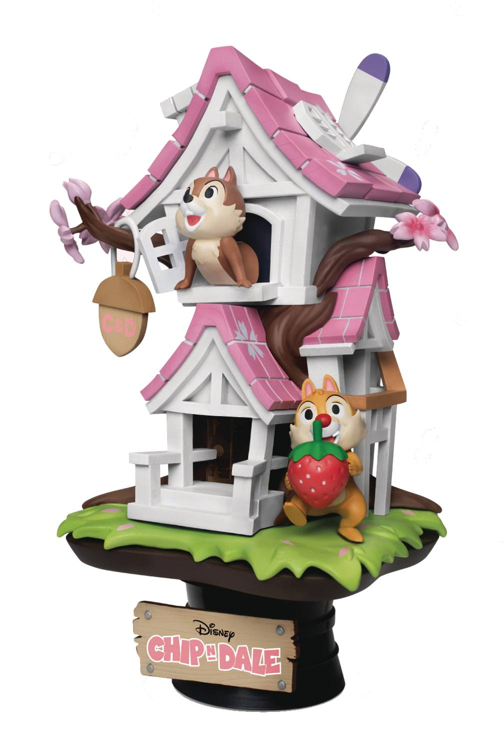 DISNEY DS-057 CHIP N DALE TREEHOUSE PX 6IN STATUE CHERRY VER