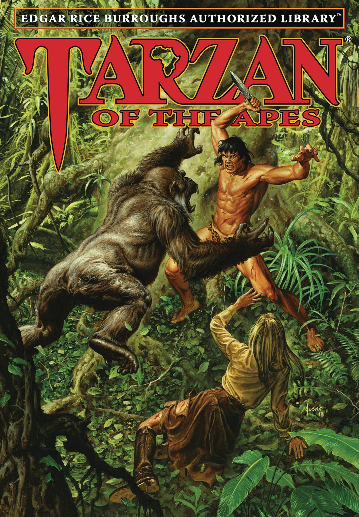 ERB AUTHORIZED LIBRARY TARZAN HC VOL 01 TARZAN OF THE APES (