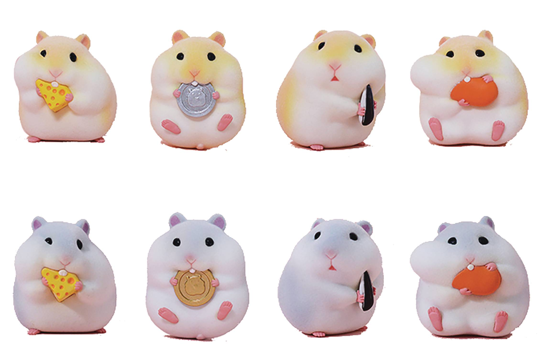 THE GLUTTONOUS HAMSTERS 8PC TRADING FIG BMB DIS