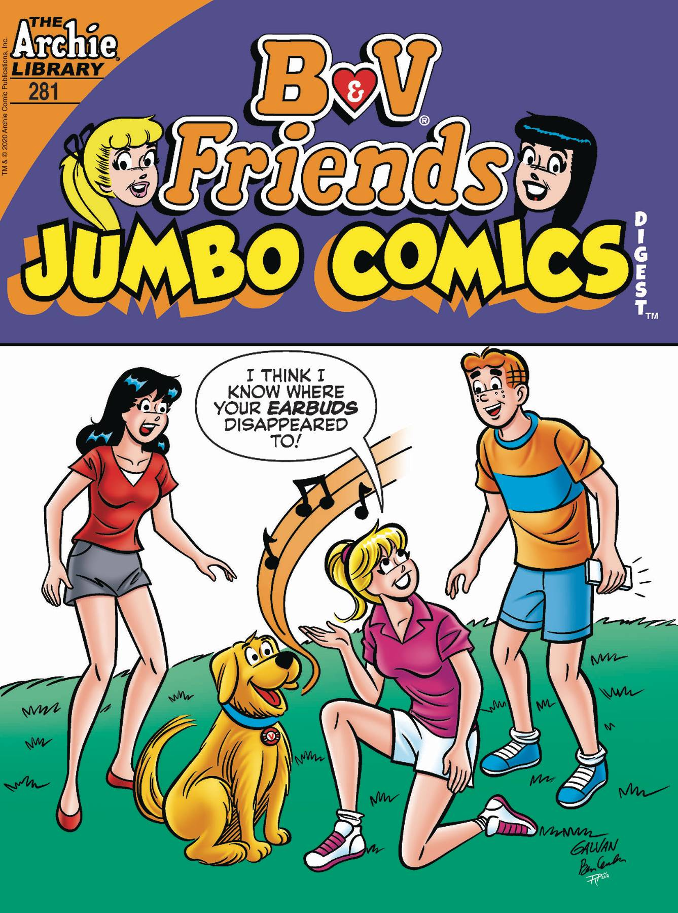 B & V FRIENDS JUMBO COMICS DIGEST #281
