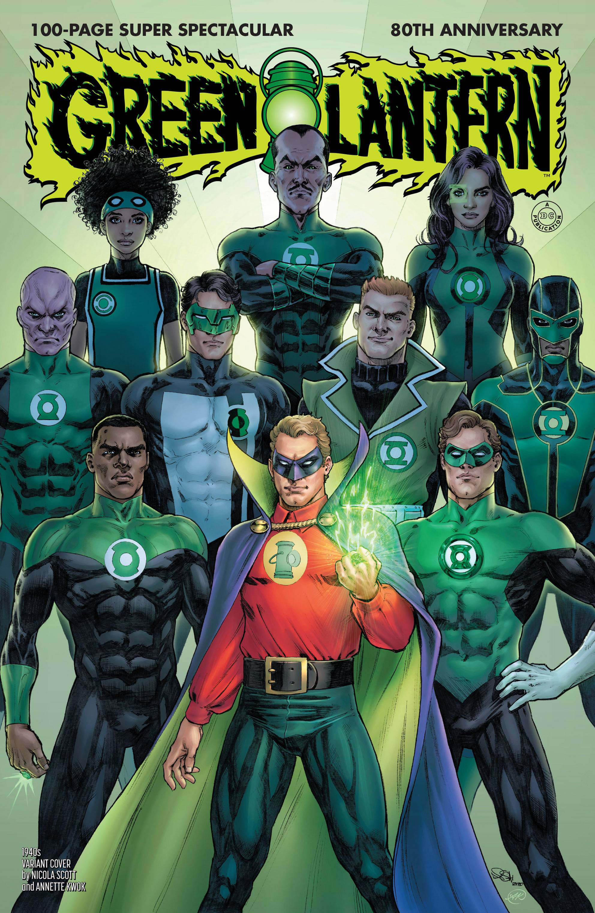 GREEN LANTERN 80TH ANNIV 100 PAGE SUPER SPECT #1 1940S VAR E
