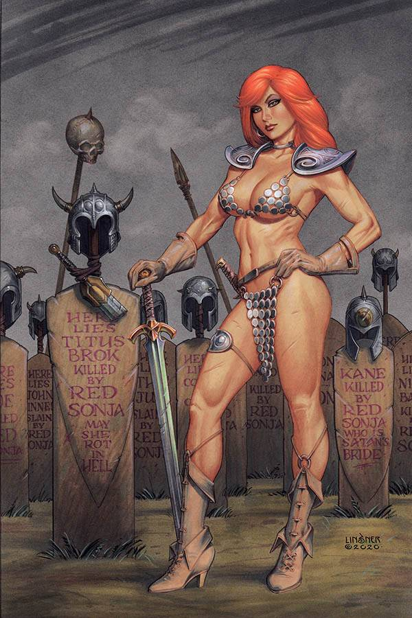 RED SONJA #16 LINSNER LTD VIRGIN CVR