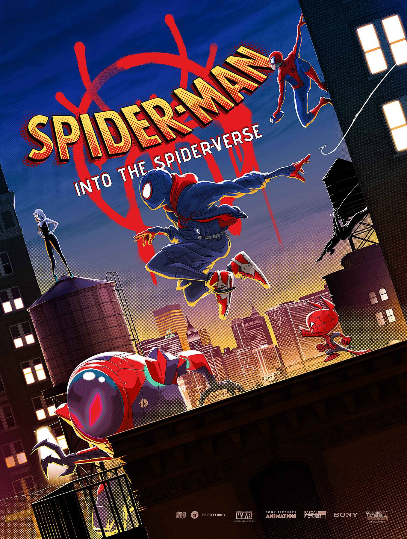 SPIDER-MAN INTO THE SPIDER-VERSE POSTER BOOK TP