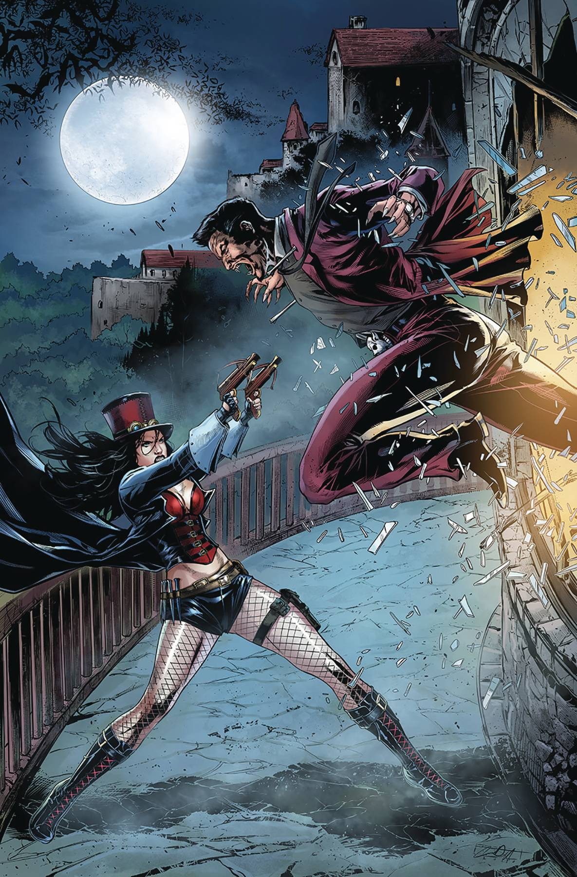 VAN HELSING VS LEAGUE MONSTERS #5 CVR B WHITE (RES)